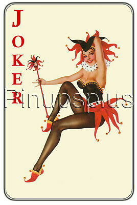 Waterslide Decal Sticker Sexy Pinup Girl Red Joker Card Gambling Poker](Joker Girlfriend)