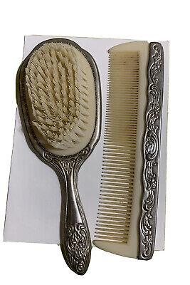 Victorian Wigs, Hair Pieces  | Victorian Hair Jewelry Vanity Set Hair Brush Comb  Vintage Set Antique Victorian Style $15.00 AT vintagedancer.com