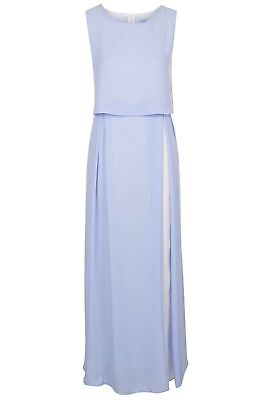 BNWT JOVONNA LONDON PALE BLUE & WHITE 2 IN 1 MAXI  DRESS  SIZE UK 10 RRP £79