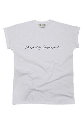 'Perfectly Imperfect' Slogan TShirt Top Tumblr Blogger