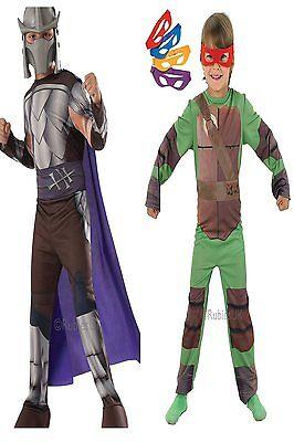 Kids Official TMNT Teenage Mutant Ninja Turtles Fancy Dress Costume 3 - 8 Years](Official Ninja Turtle Costume)