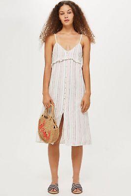 BNWOT Topshop Striped Midi Dress Size L