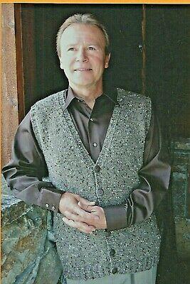 Basic Cardigan Vest Men V Neck Knitting Pure & Simple Pattern #276 XS-2X 37