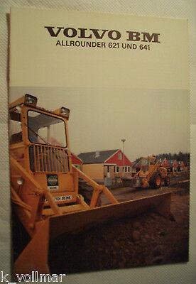 ✪Sales Brochure/INFO/Baumaschinen Volvo BM Allrounder 621 und 641 Prospekt