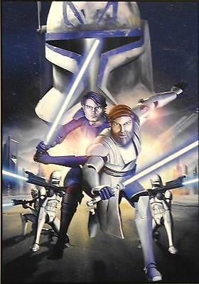"Star Wars Clone Wars WALL POSTER 15.25""x21.75""_Anakin Skywalker & Obi-Wan Kenobi"