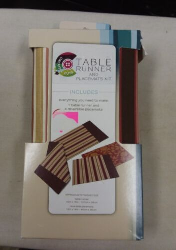 1 table runner 4 reversible placemats set