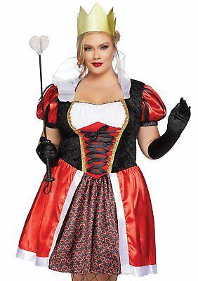 Leg Avenue Wunderland Königin der Herzen Damen Übergröße Halloween Kostüm - Übergröße Königin Der Herzen Kostüm