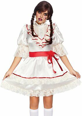 Leg Avenue Gejagter Puppe Annabelle Gruselig Erwachsene Damen Halloween - Gruselige Puppe Kostüm