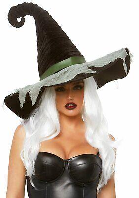 Leg Avenue Hocus Pocus samt Rüschen Hexenhut Halloween Kostüm Zubehör A2873