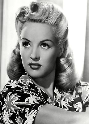 Betty Grable Pouty PHOTO Portrait Blonde Pin-up Girl Actress, Sexy Publicity Pic