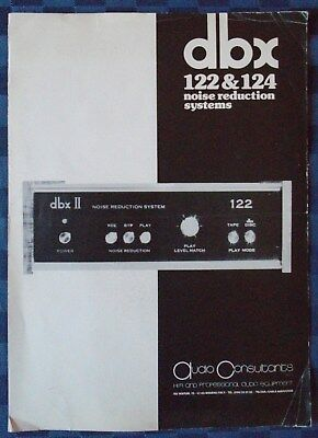 BROCHURE DBX 122 & 124 NOISE REDUCTION SYSTEMS segunda mano  Embacar hacia Argentina