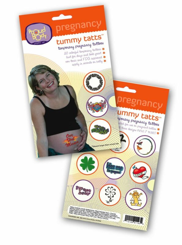 ProudBody Pregnant Tummy TATTs Temporary Pregnancy Belly Tattoos - FDA Approved