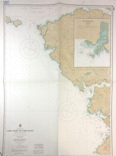 Vtg SEA OTTER COVE Nautical Chart VANCOUVER ISLAND Canada BRITISH COLUMBIA MAP