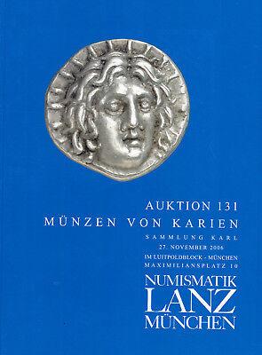 LANZ AUKTION 131 Katalog 2006 Münzen von Karien Sammlung Karl ~