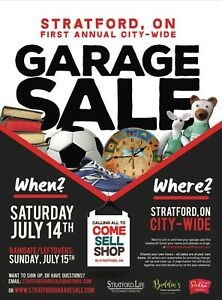 Stratford's first annual city wide yard sale!