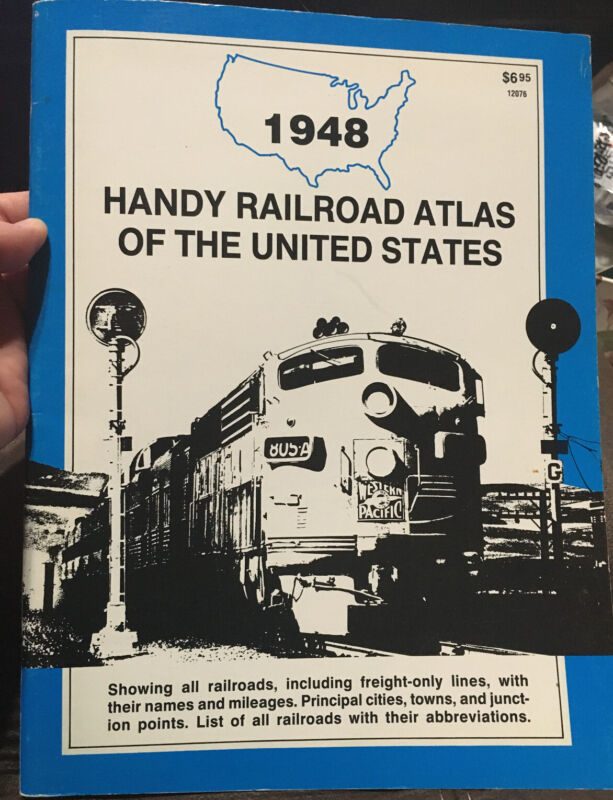 1948 Handy Railroad Atlas of the United States; Reprint by Trains Mag, Free Ship