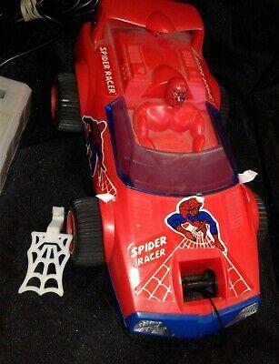 Vintage 1984 Secret Wars Spider-Man Racer With Web Winch BUDDY L WORKS