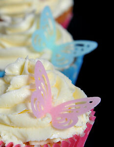 Butterfly PRECUT Edible Cupcake Toppers-Choose your Colour/Amount + FREE Glitter