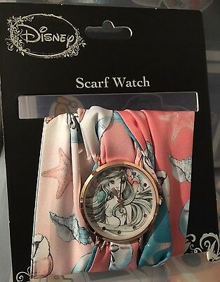 NEW DISNEY THE LITTLE MERMAID PRINCESS ARIEL SKETCH SCARF WATCH