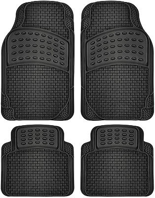 Car Floor Mats for Ford Escape 4pc Set All Weather Rubber Semi Custom Fit Black