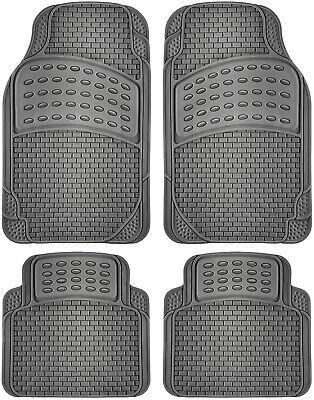 - Car Floor Mats for All Weather Rubber 4pc Set Eagle Fit Heavy Duty Grey