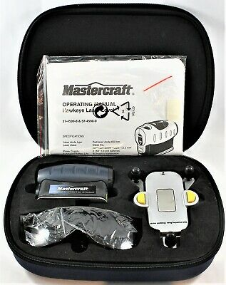 Laser Level And Wall-mounting Basewith Case Mastercraft Hawkeye Kit