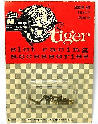 Monogrammed Car Accessories (1964 Monogram Tiger Slot Car Racing Accessories 2-56 x 1/2