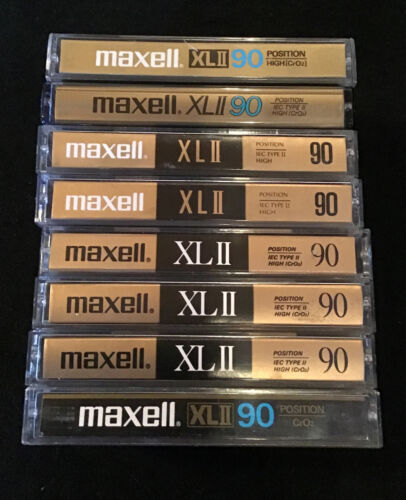 Lot of 8 Maxell XLII 90 Min Type 2 High Bias Blank Used Cassettes Tapes