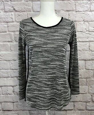 - Olive & Oak Women's Black & White Long Sleeve Blouse with Piping Size Small H/16