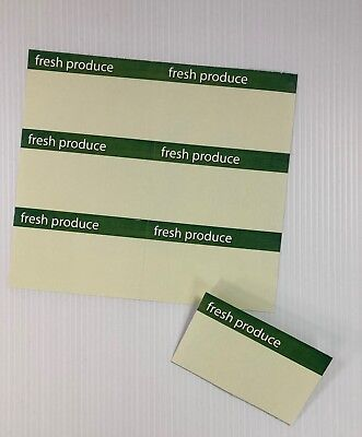 88pcs-fresh Produce Price Cards-display Signs 8 Up- Each Sign Is 4.25x2.50