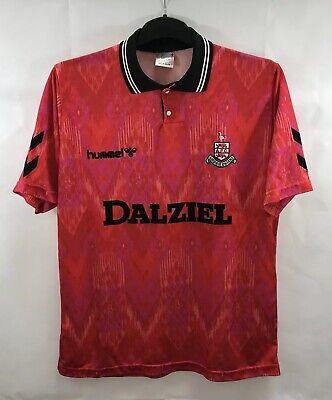 Airdrieonians Away Football Shirt 1992/93 Adults XL Hummel B549 image