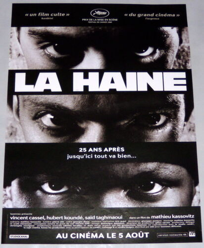HATE - 25 YEARS AFTER - LA HAiNE Kassovitz Cassel TaghmaouiSMALL french POSTER