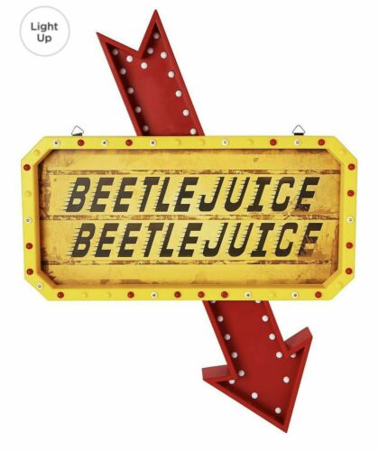 Beetlejuice LED Lighted Light Up Marquee Sign SPIRIT HALLOWEEN - New, Ships ASAP