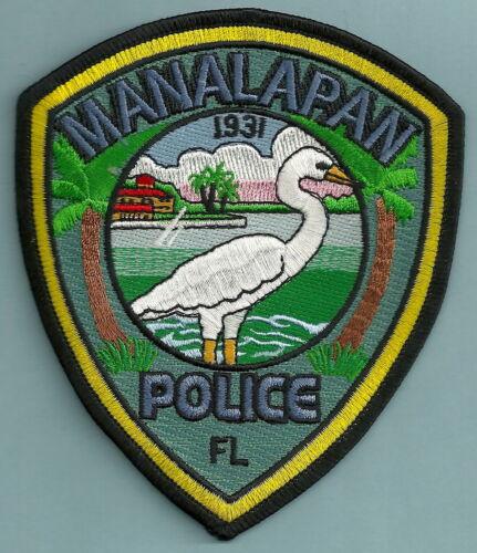 MANALAPAN FLORIDA POLICE SHOULDER PATCH