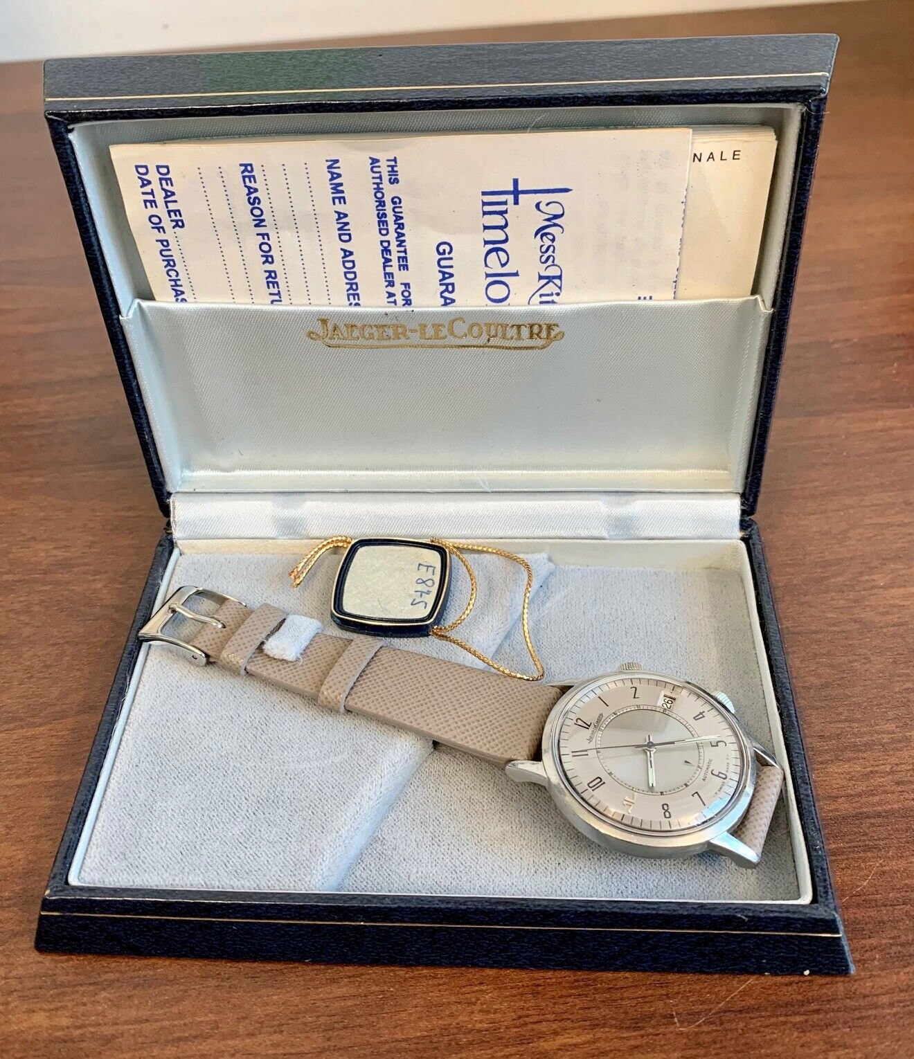 A vintage Jaeger LeCoultre Memovox Speedbeat wristwatch with box & papers. - watch picture 1
