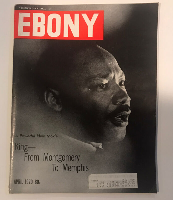 Vintage Ebony Magazine April 1970 - King - From Monthomery To Memphis