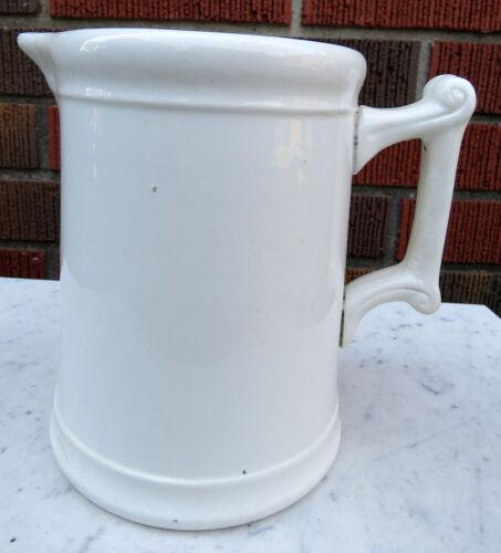 "Antique Ironstone Milk Pitcher W. S. George Co. UTENSIL JAR/CROCK 6.75"""