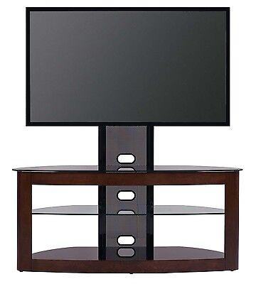 "TransDeco TD600DB TV Stand with Mount, 35""-80"", Dark Oak/Bla"