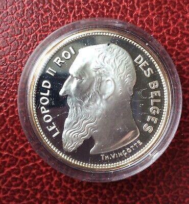 Belgique - Refrappe officielle Monnaie Royale - Rare 2 franc 1904 FR    - Argent