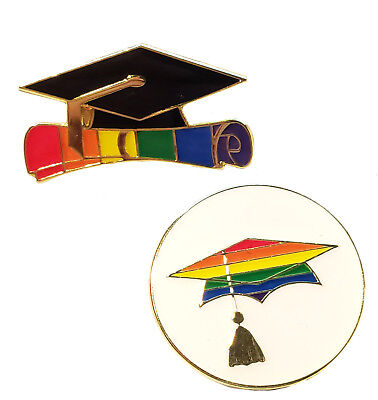Gay Pride Graduation Enamel Lapel Pins LGBT LGBTQ Lavender Grad Wholesale Lots