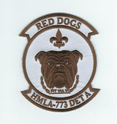 """HMLA-773 DET A """"RED DOGS"""" #2 patch"""