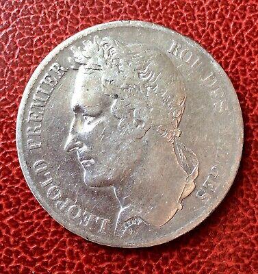 Belgique - Léopold Ier - Jolie monnaie de  5 Francs  1833 - position B (2)