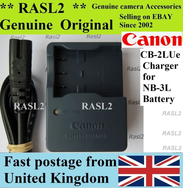 Genuine Canon CB-2LUE Charger NB-3L   IXUS i    IXUS i5  700,750 , IXUS II, SD20