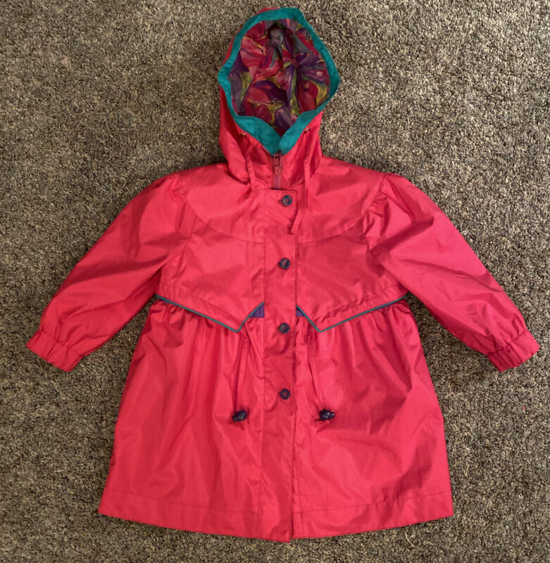 Dress Raincoat Girls Size 4T, Giacca