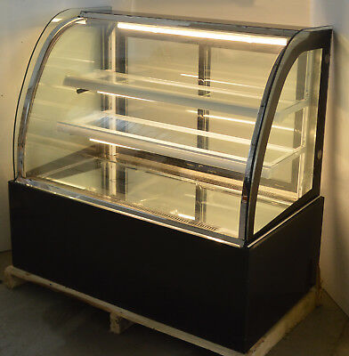 Yellow Light Back-open Refrigerated Bakery Showcase 220v Cake Display Cabinet