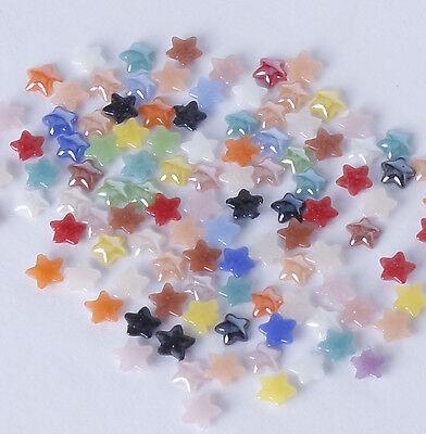 100x 4mm mixed ceramic stars