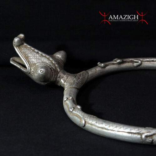 Outstanding Large Fine Gan Necklace  - Snake and Crocodiles - Burkina Faso