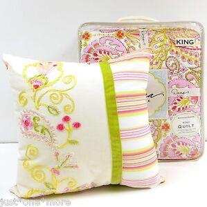 Dena Home Moroccan Garden King Quilt Amp Pillow New Pink