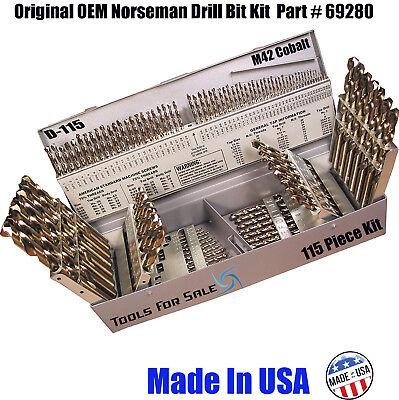 Norseman 115 Pc Cobalt M42 Drill Bit Set
