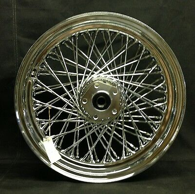 "Chrome Ultima 80 Spoke 16"" x 3"" Rear Wheel for Harley Softail & Dyna 1984-1999"